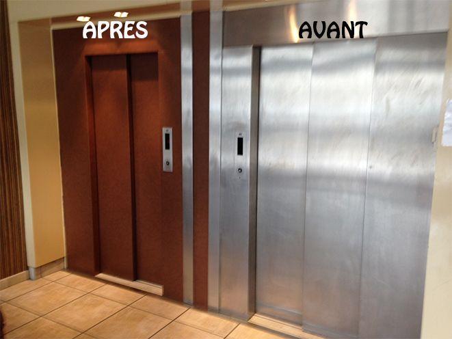 Raviver vos ascenseurs gr ce nos rev tement adhesif personnalisables r novation ascenseur - Operateur de porte d ascenseur ...