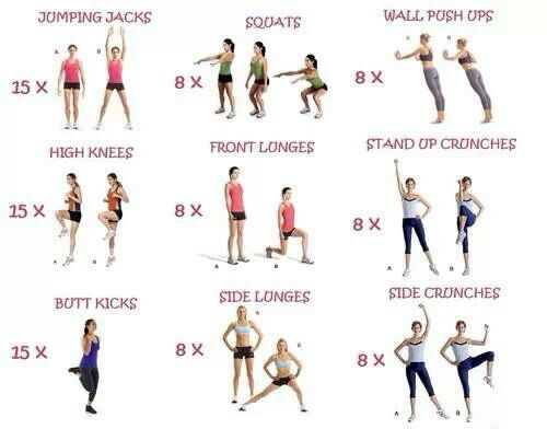 workout for beginners - Google Search