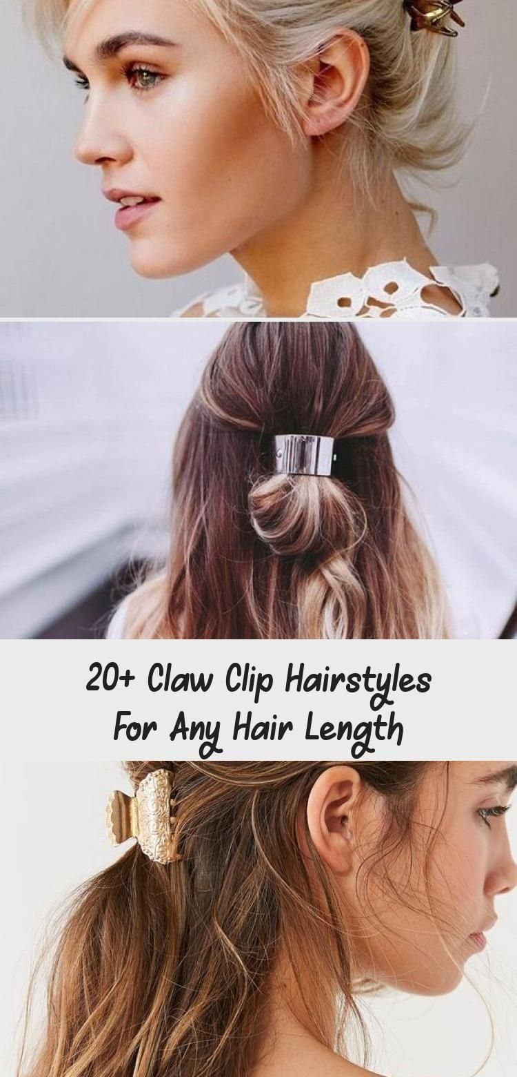 20 claw clip hairstyles for any hair length beauty in