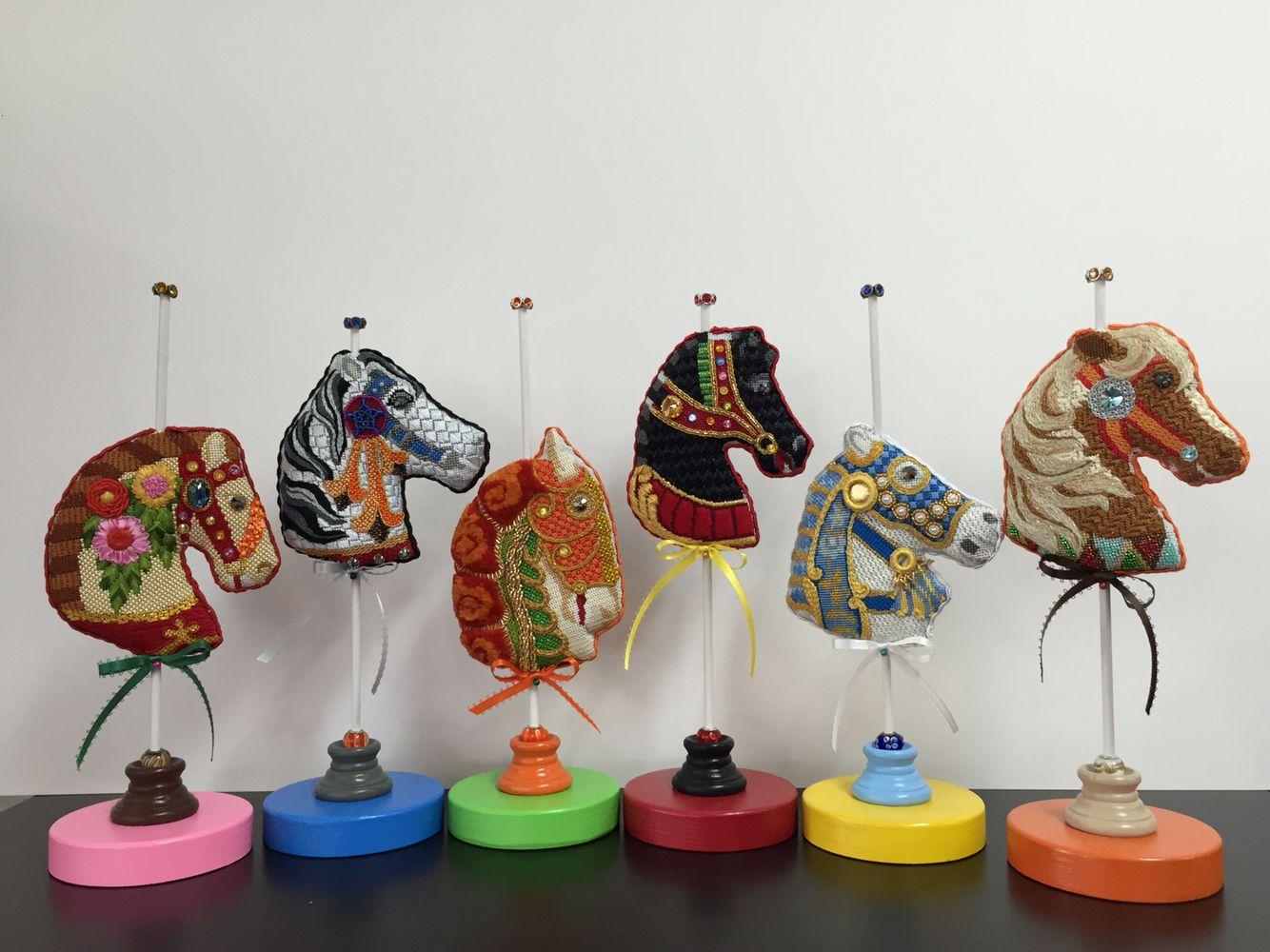 Carousel horses on stands   Design, Needlework, Carousel ...