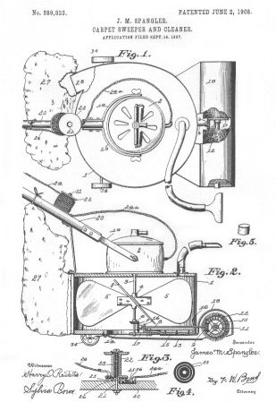 The Vacuum Cleaner Invented In 1860 By Daniel Hess Of