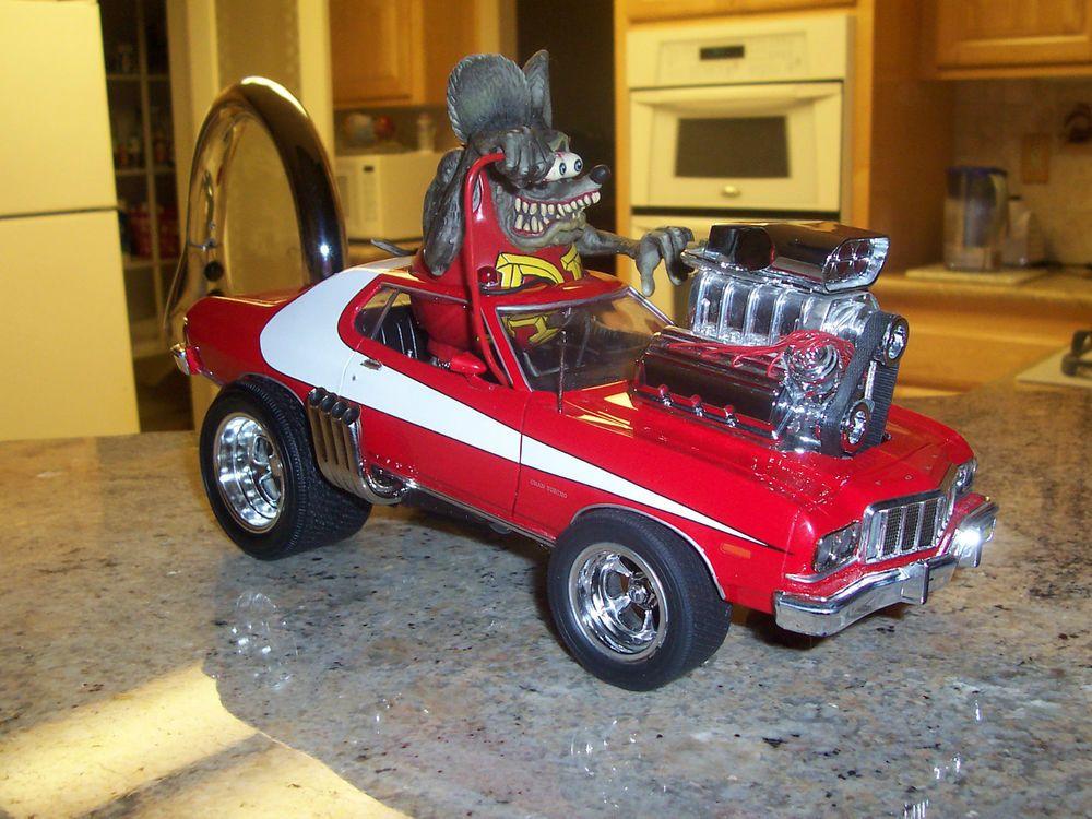 1 18 Custom 1975 Starsky Hutch Torino Hot Rod Rat Rod Rat Fink