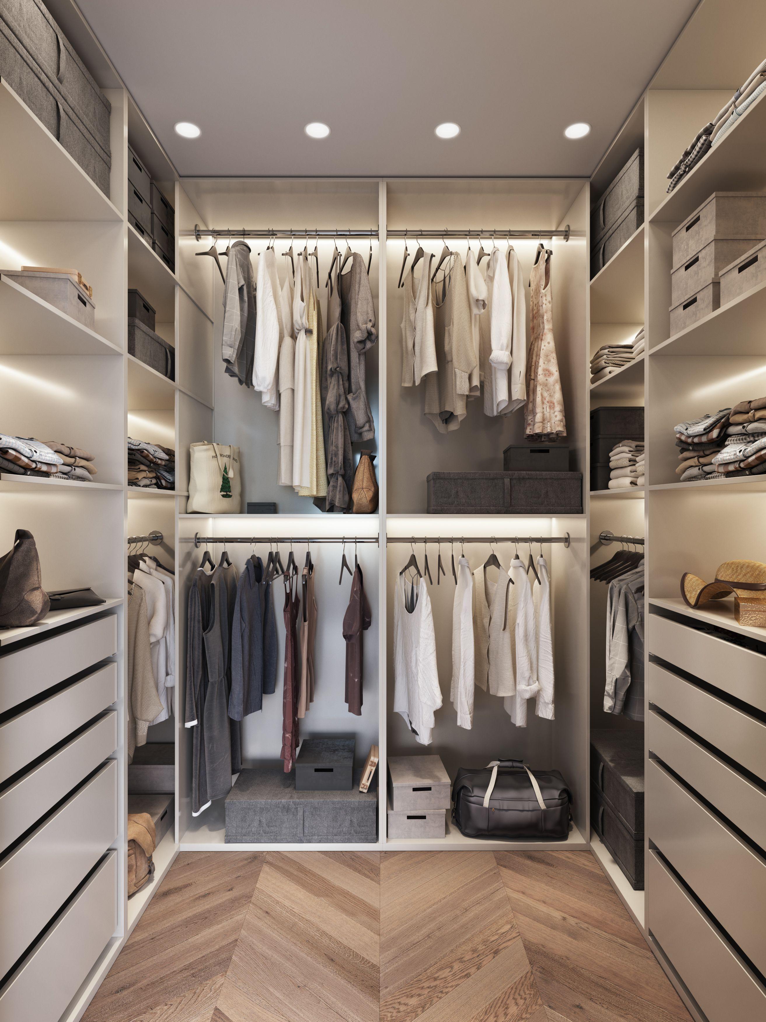 Idea de vestidor utilizando muebles de ikea ideas piso - Interior de armarios ikea ...