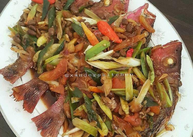 Resep Kakap Masak Tauco Oleh Xander S Kitchen Resep Resep Masakan Indonesia Masakan Simpel Resep Masakan