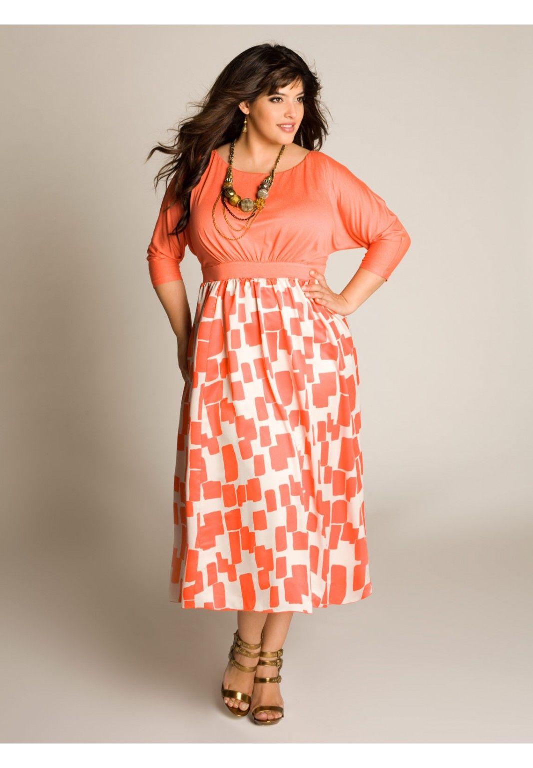Plus Size Katelyn Dress In Tahiti Coral Image Curvy Girl Fashion Modest Dresses Plus Size Dresses
