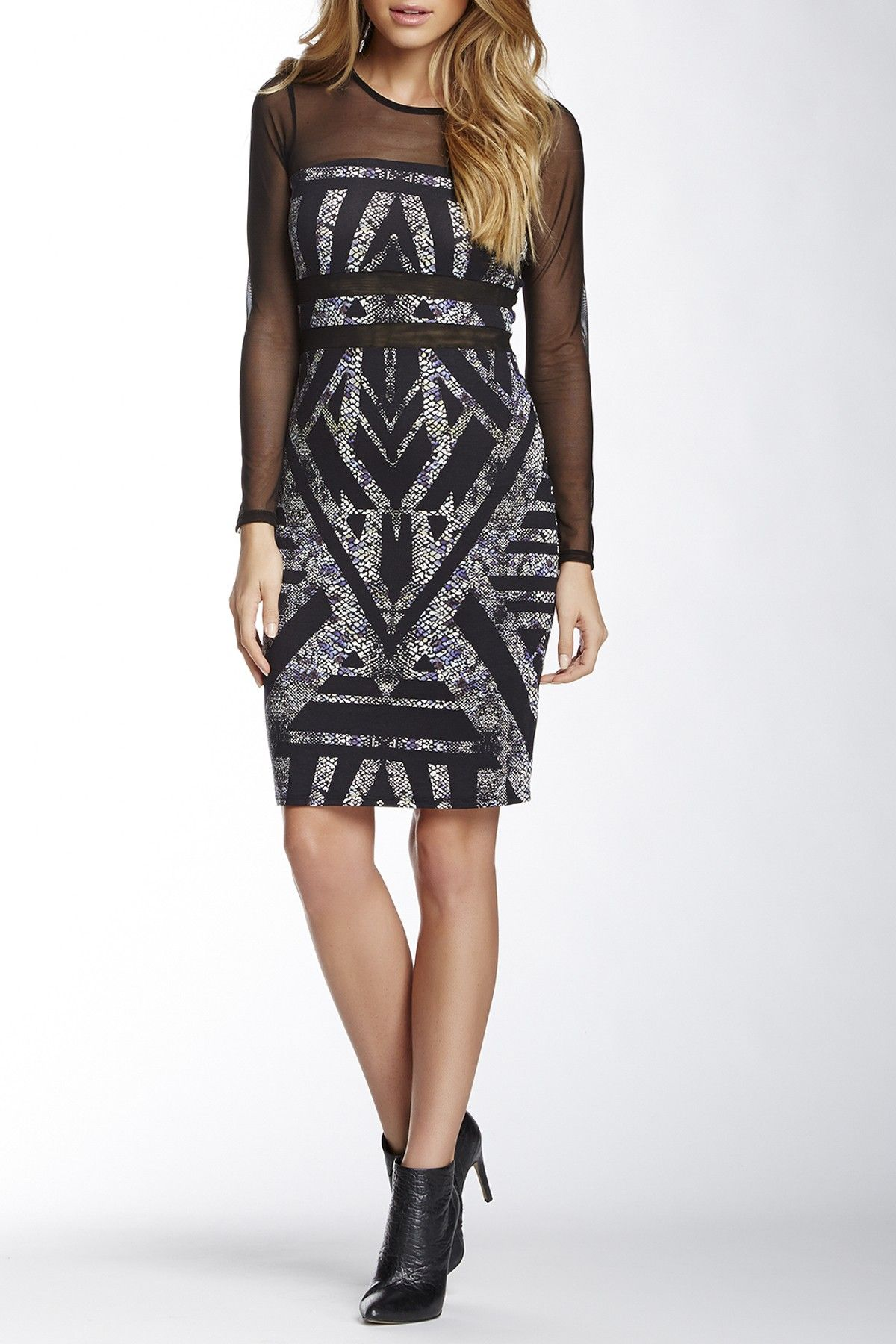 Andrea Mesh Print Dress by Weston Wear | nordstrom rack - super cute but sure as hell doesn't look like that on me.
