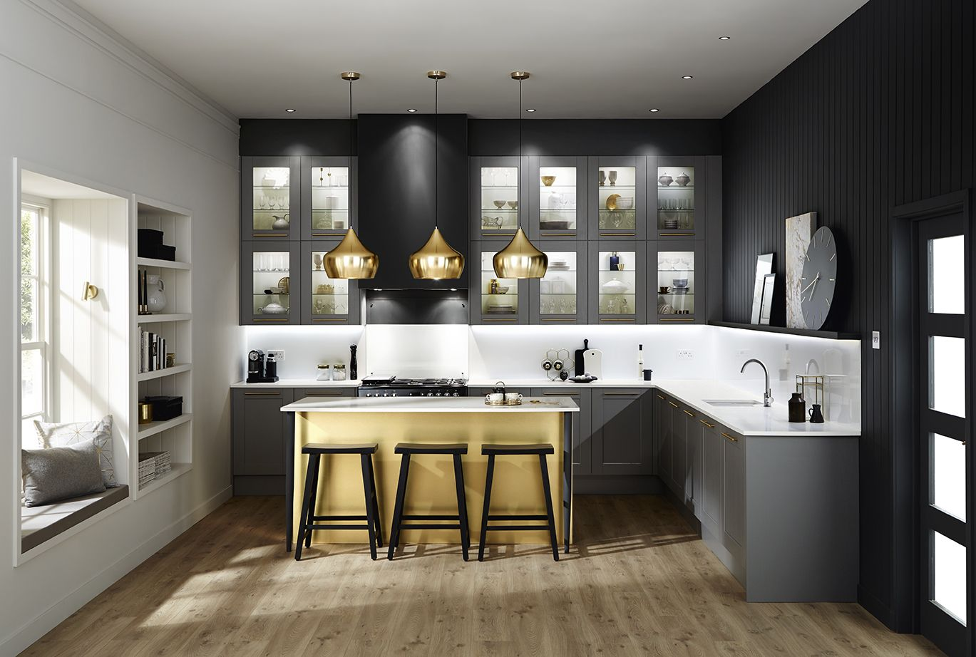 Our Fairford Graphite Offers A Striking Dark Grey Matt Finish In A - Dark grey matt kitchen
