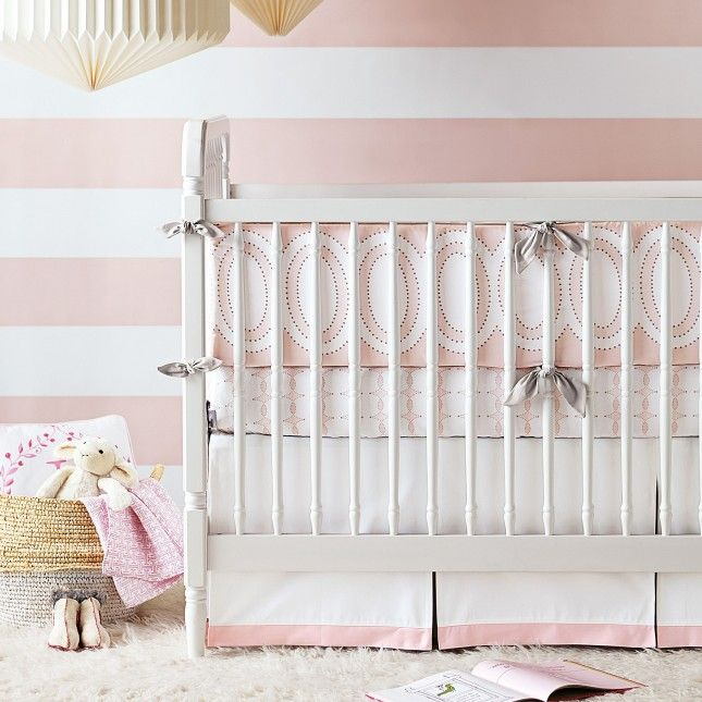 24 Bold Ideas For Striped Walls Unique Baby Bedding Girl Nursery Bedding Baby Girl Bedding