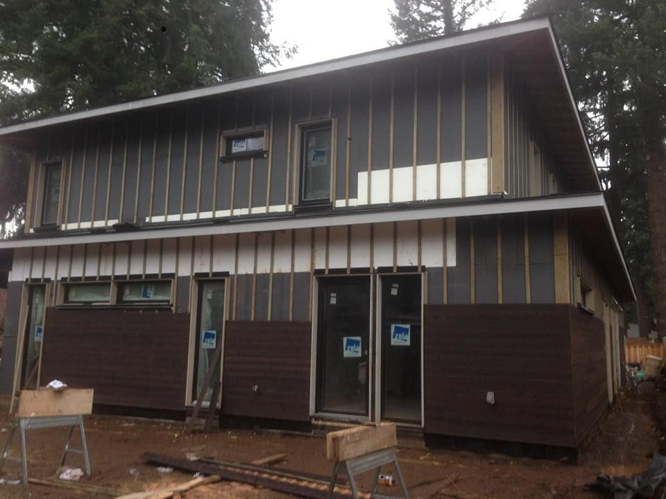 The A Residence Here In Portland Is Being Clad With Gendai And No Prefinish Just Like Is Traditional In Japan We Are Very Wood Siding Shou Sugi Ban Forestry