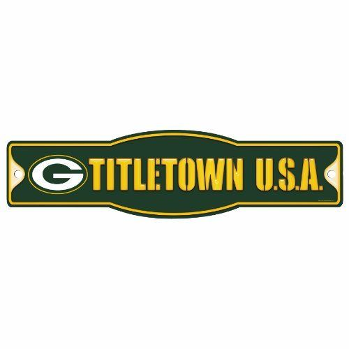 Nfl Green Bay Packers 4 5 By 17 Sign Quot Titletown Quot By