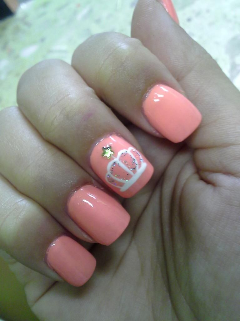 Princess nails! - Princess Nails! Wedding Hairstyles And Makeup Nails, Crown Nails