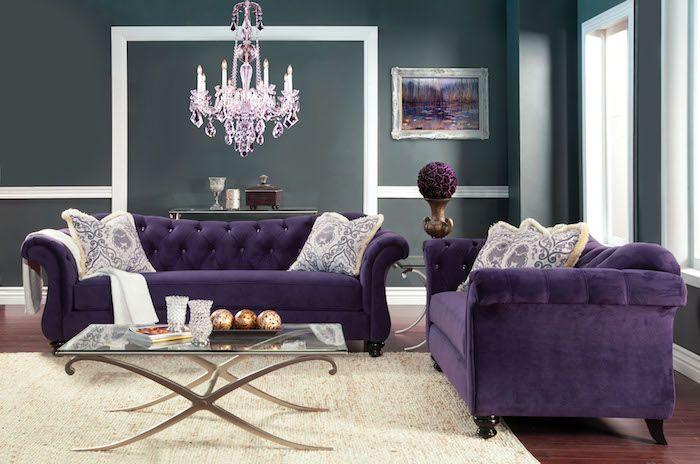Pinterest   Wohnzimmer Grau ▷ 1001 + Ideen Und Bilder Zum Thema Aubergine  Farbe   Wohnzimmer Grau Violett ...