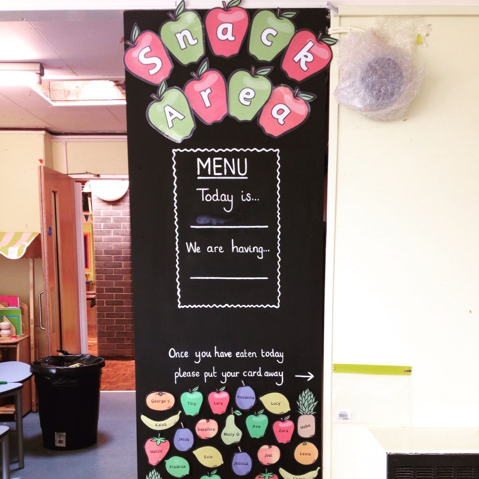 New rolling snack area display | classroom decoration | Pinterest ...