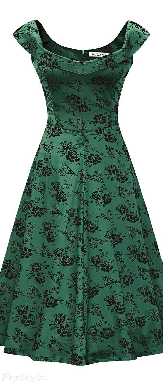 MUXXN Vintage 1950s Off Shoulder Cocktail Dress | Швейный ...