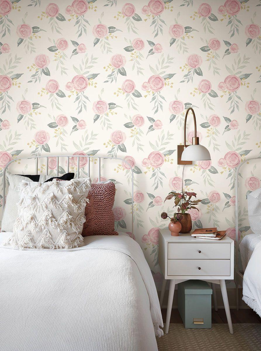 Magnolia Home Watercolor Roses Peel & Stick Wallpaper