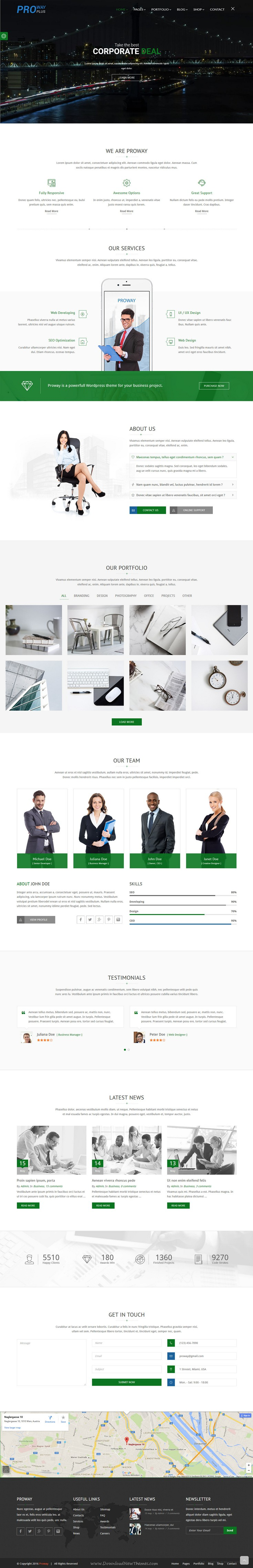 Proway Plus Is Fresh And Clean Design Bootstrap Template For Creative Agencies Personal Portfolios Online Shops Blogs Templates Business Finance Finance