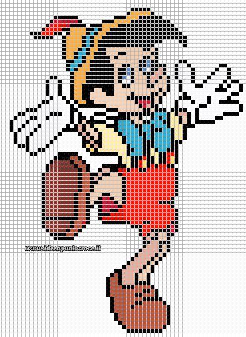 ENCANTOS EM PONTO CRUZ: Pinoquio | Cross stitch | Pinterest ...