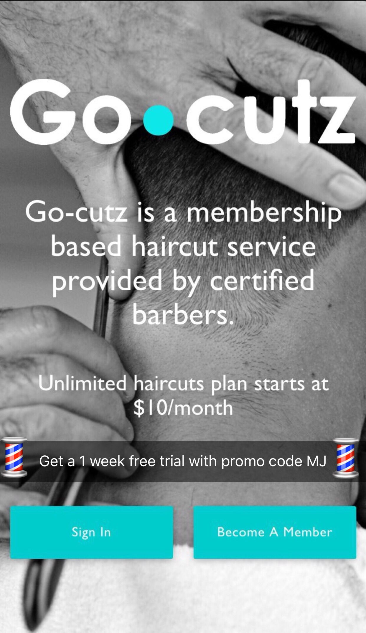 Free unlimited haircuts starting at 10 a month. Get a 1