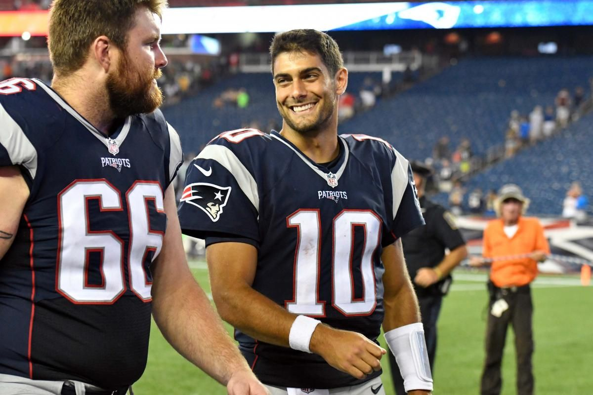 Jimmy Garoppolo S Blueprint For Success Lean On Rest Of Roster Patriots Football Memes Jimmy