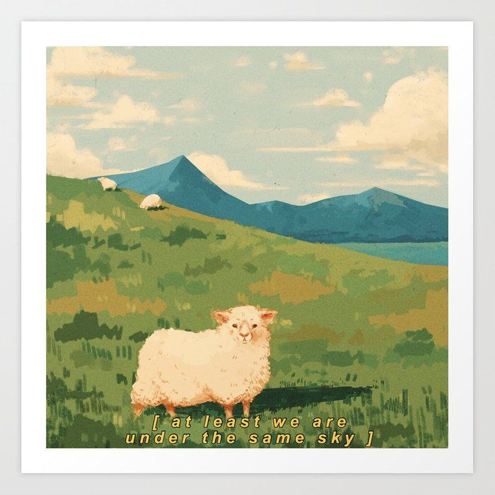 Sleepy Sheepy Art Print by The Plant Child - X-Sma
