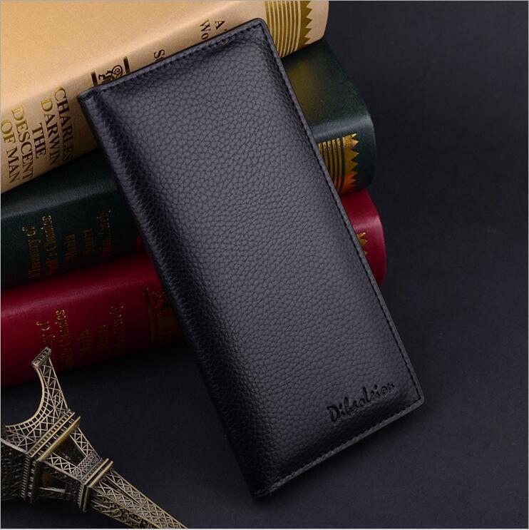 Casual PU Leather Wallet Men Card Holder Men Purse Brand Long Men Wallets Business Design Soft Male Purse New Men Clutch Handbag