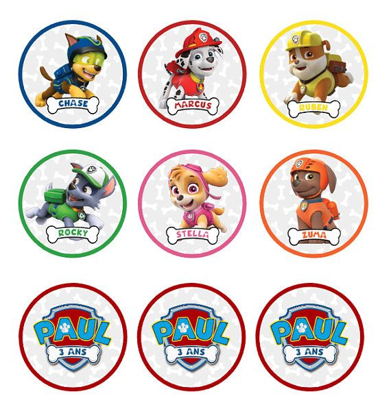 Paw patrol party package customized nina party ideas pinterest patrulla canina y fiestas - Pat patrouille telecharger ...