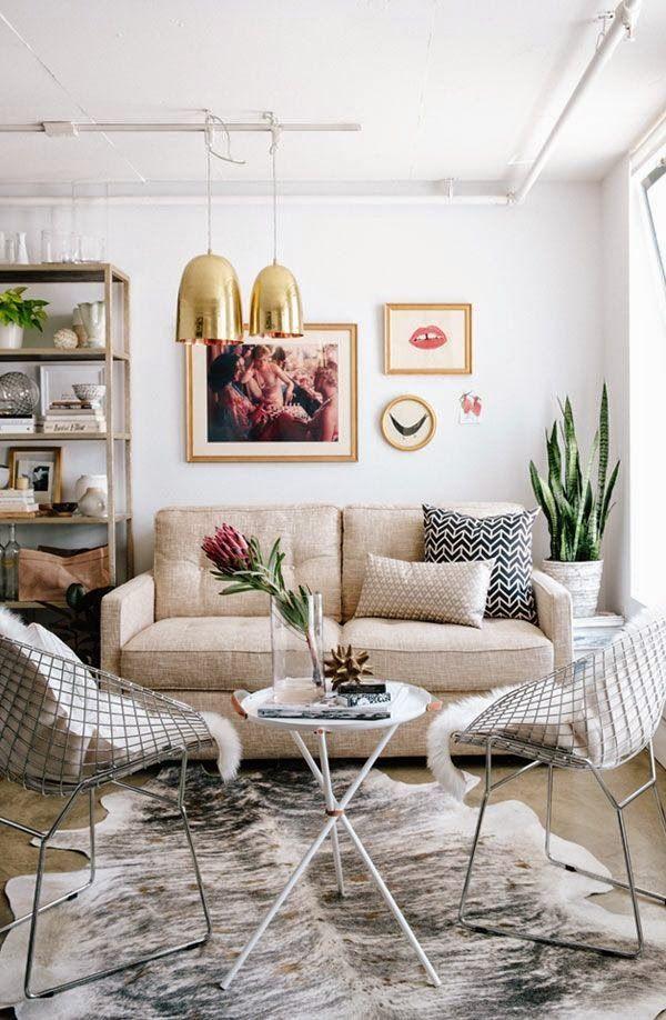 de 101 ideas de decoración de salas pequeñas, modernas (FOTOS)