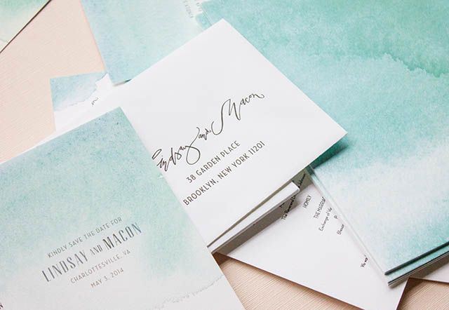 watercolor weddings a month of mae discount invitation