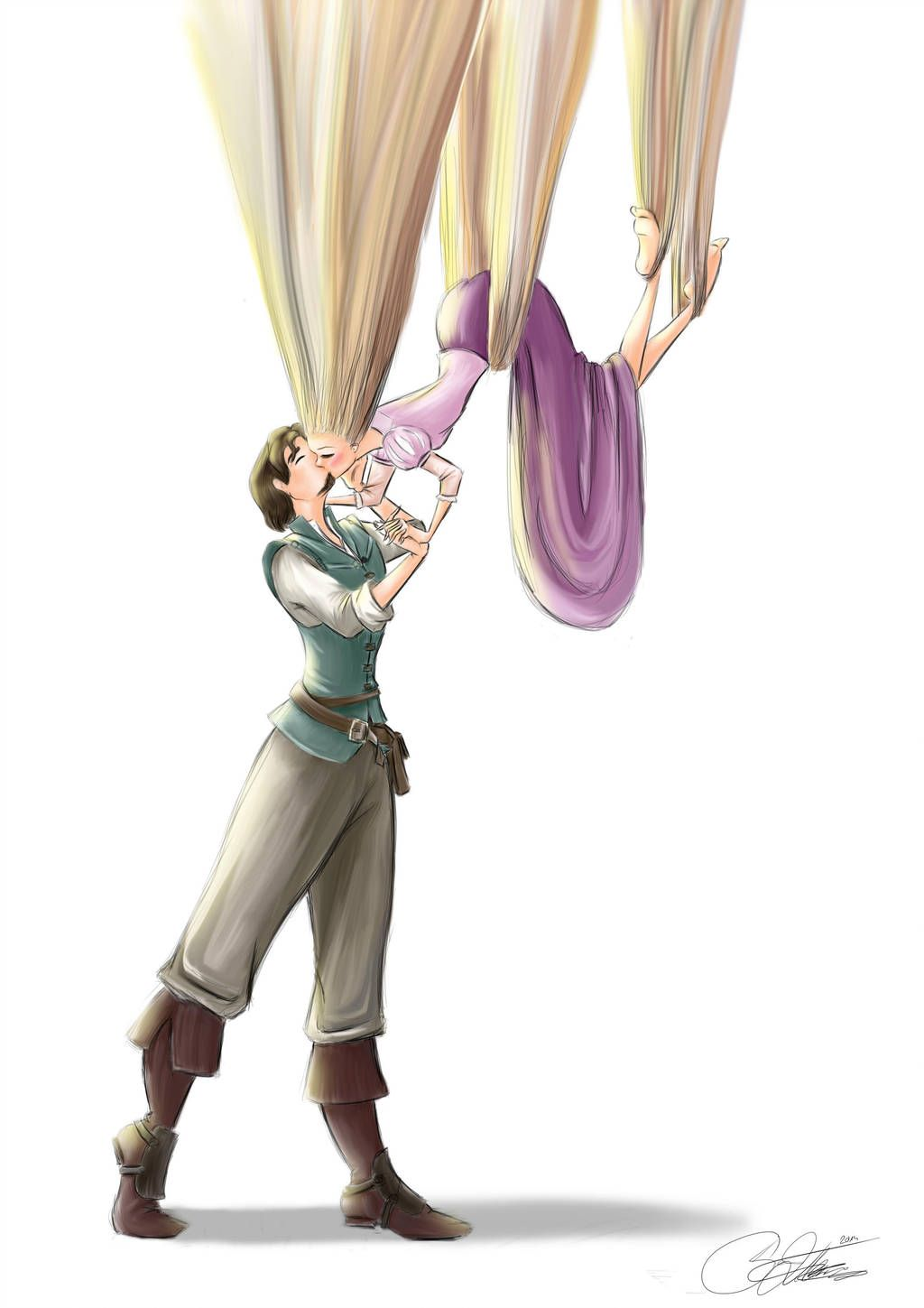 Rapunzel and Eugene by SilverCatseyes