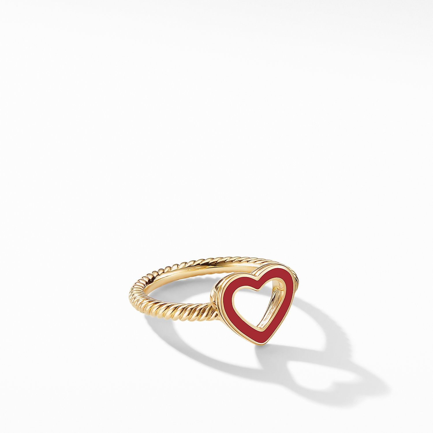 Cable Collectibles Heart Ring In 18k Yellow Gold With Images Gold