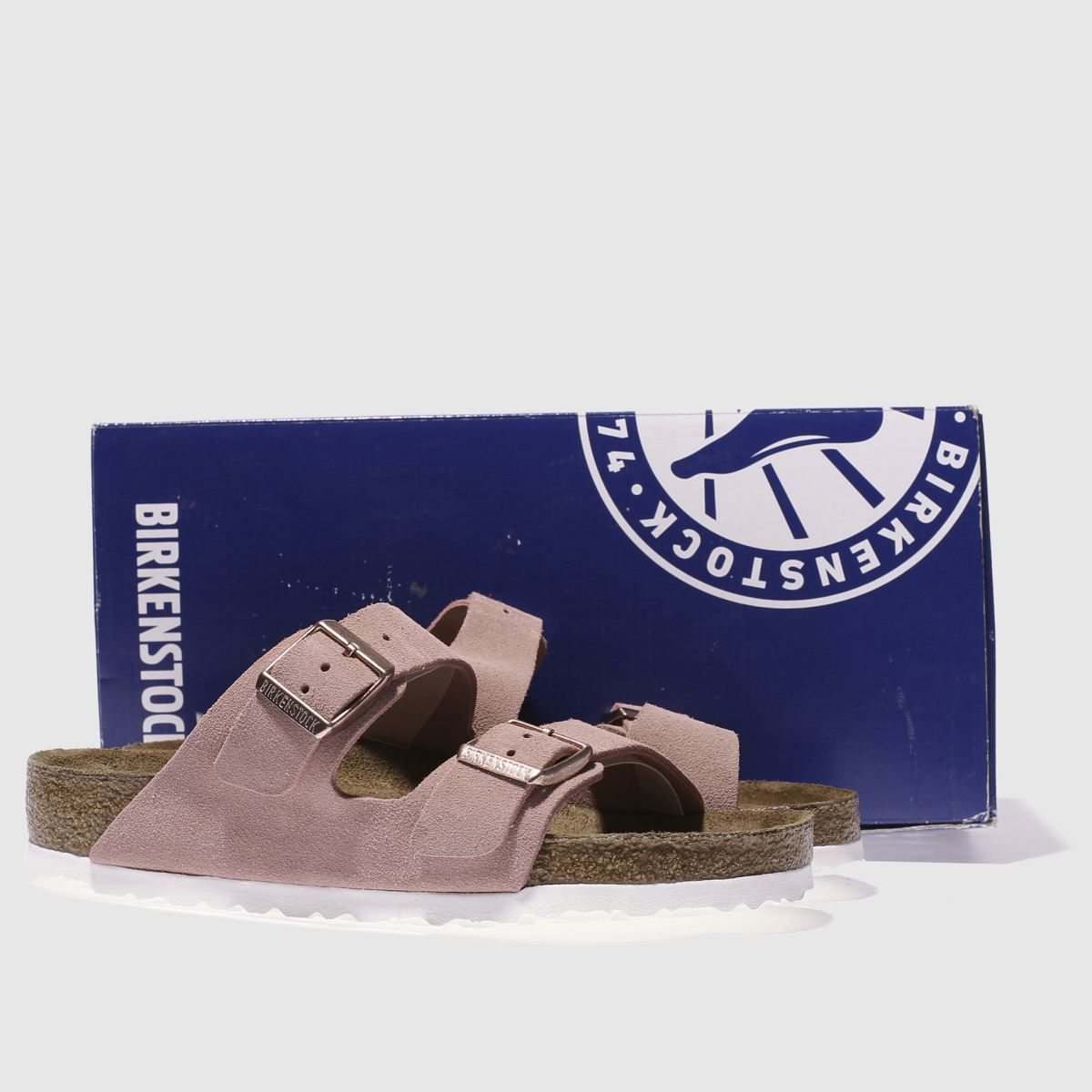 Birkenstock Arizona Suede Sandals Pink