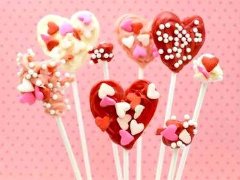 Red Tricycle candy heart pops - thecraftycrow.net