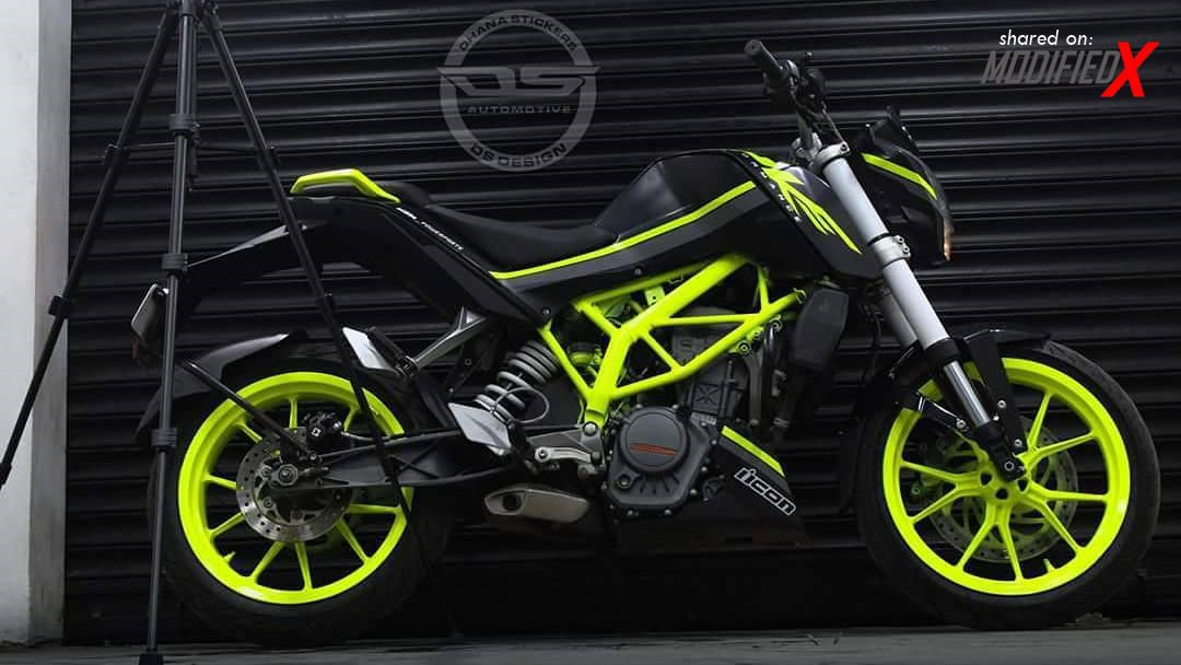 New Ktm Duke 200 Modified Black Fluorescent Green 2017 Ktm