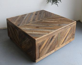 Chevron Pallet Coffee Table reclaimed chevron pallet and barn wood coffee table with storage