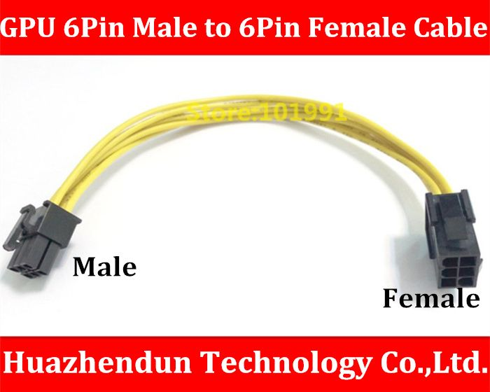 High Quality 6PIN Cable for Graphics Card PCI-E 6Pin Male to 6 Pin ...