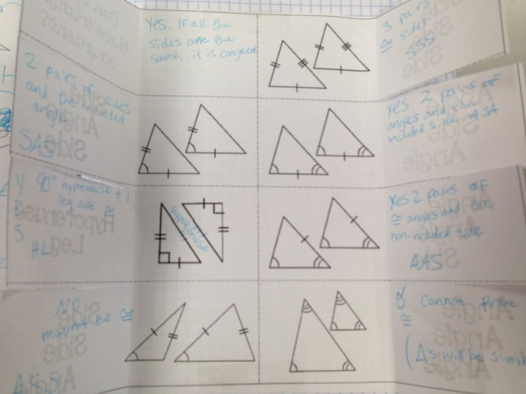 Day 51 Triangle Congruence Notes Making It All Official