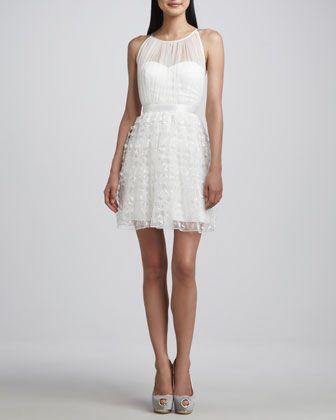 Sleeveless+Lace-Overlay+Dress+by+Aidan+Mattox+at+Neiman+Marcus.