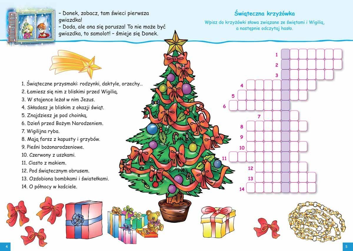 Krzyzowka Swiateczna Boze Narodzenie Doda I Donek Witaja Zime Krzyzowka Swiateczna Boze Narodzenie Education Comics Art