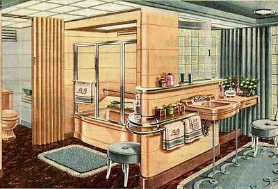 Bathroom 1950's style | Mid century modern house, Vintage ...