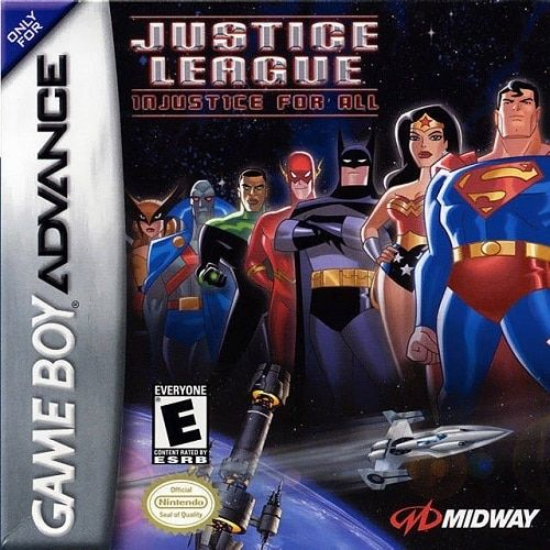 Justice League Injustice For All Gameboy Advance Game Nintendo Game Boy Advance Justice League Game Boy Advance