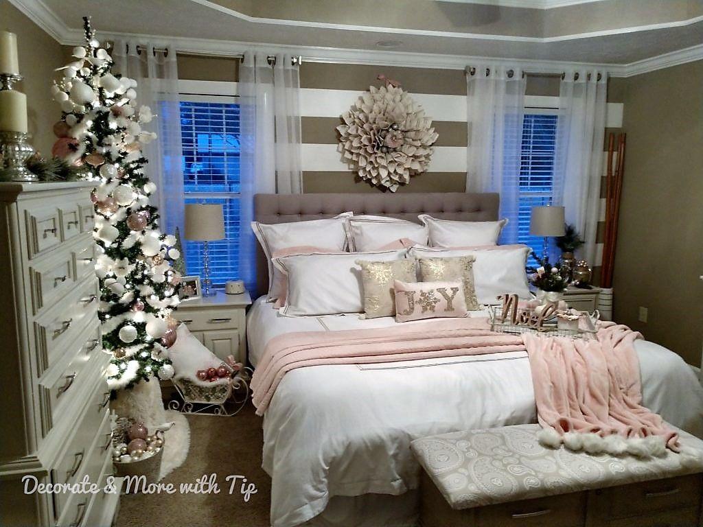 CHRISTMAS BLUSHIN' MASTER BEDROOM TOUR Pink bedroom