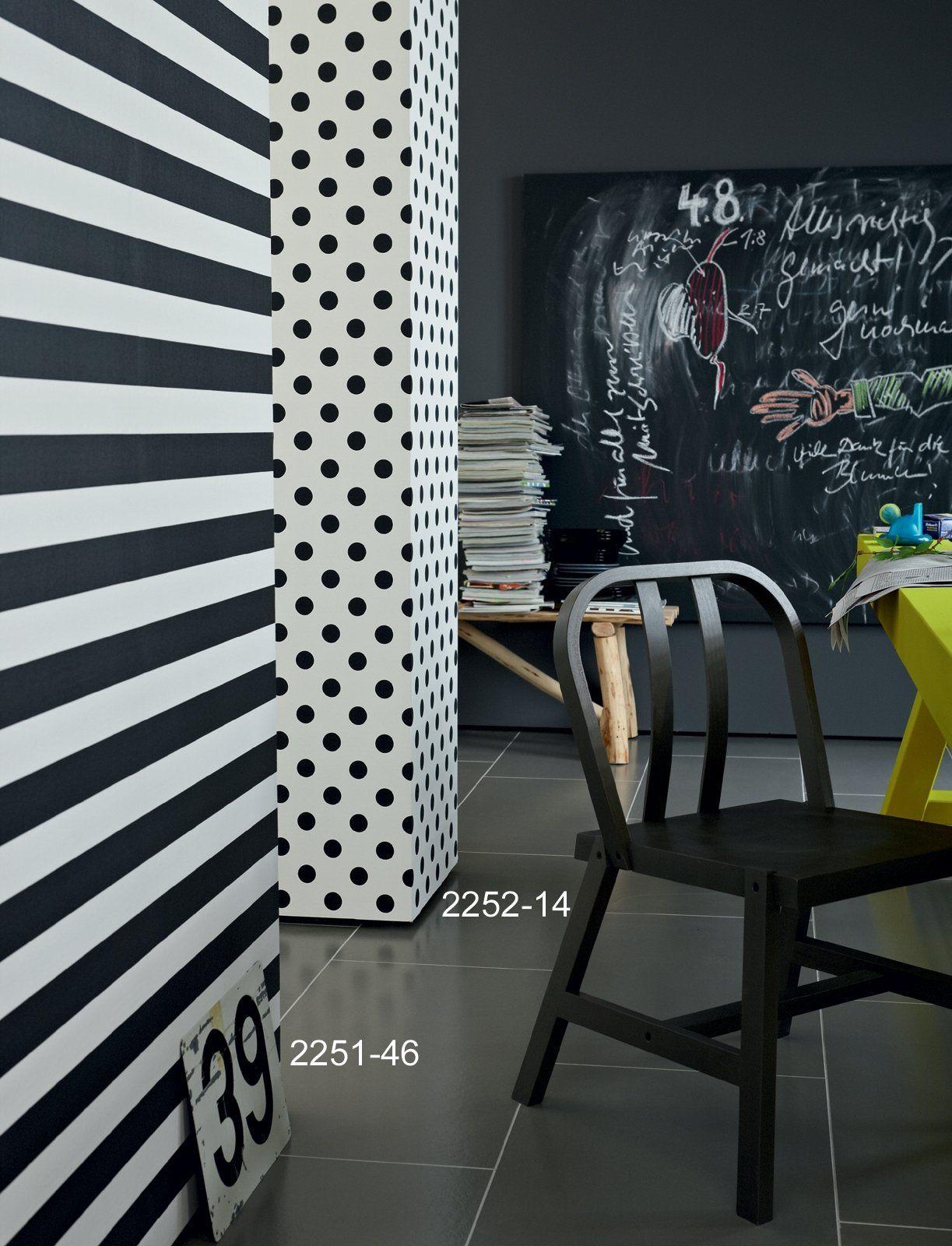 A.S. Création 225214 White Darkness Papier Peint Tissu Non Tissé Blanc à Pois  Noirs: Amazon.fr: Bricolage