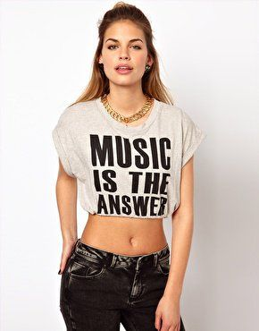 d3cd074e77a89 Glamorous Music Crop T Shirt at asos.com