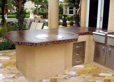 Gather Around A Teppanyaki Grill Outdoor Kitchen Island By Cook N Dine And Cook Up A Feast Design By Zury With Images Outdoor Kitchen Island Outdoor Kitchen Kitchen Grill