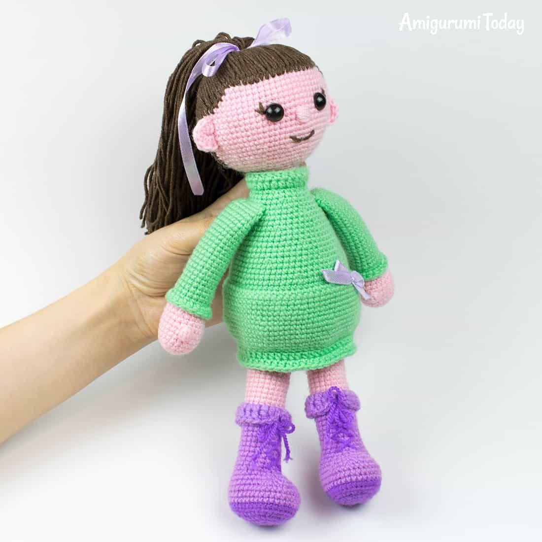Boneca De Croche Lu + Boneca Lulu + Urso Amigurumi - R$ 350,00 em ...   1100x1100