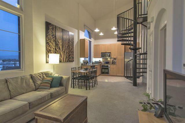 Beautiful 1 Bedroom Loft At La Boheme In North Park San Diego High Ceiling Dramatic Windows 2 Balconies And Fantas Condos For Sale New Condo Bedroom Loft