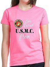 n One Proud Marine Mom T-Shirt Women's Dark T-Shirt