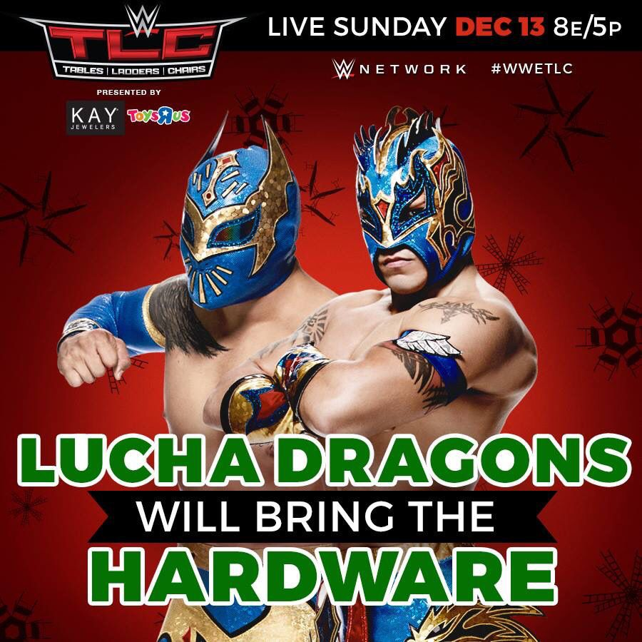 Wwe Tlc 2015 The Lucha Dragons Sin Cara Kalisto Will Bring The