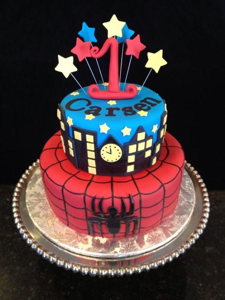 Incredible Spiderman Birthday Cake Visit To Grab An Amazing Super Hero Funny Birthday Cards Online Elaedamsfinfo