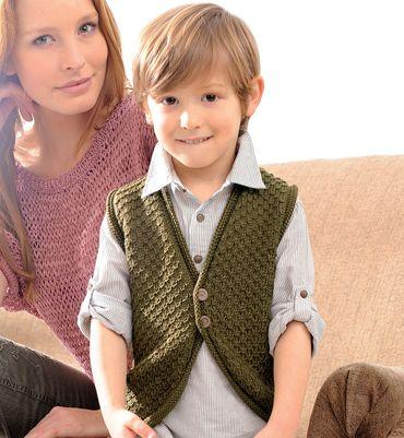 Modèle Gilet Sans Manches Enfant Modèles Tricot Enfant